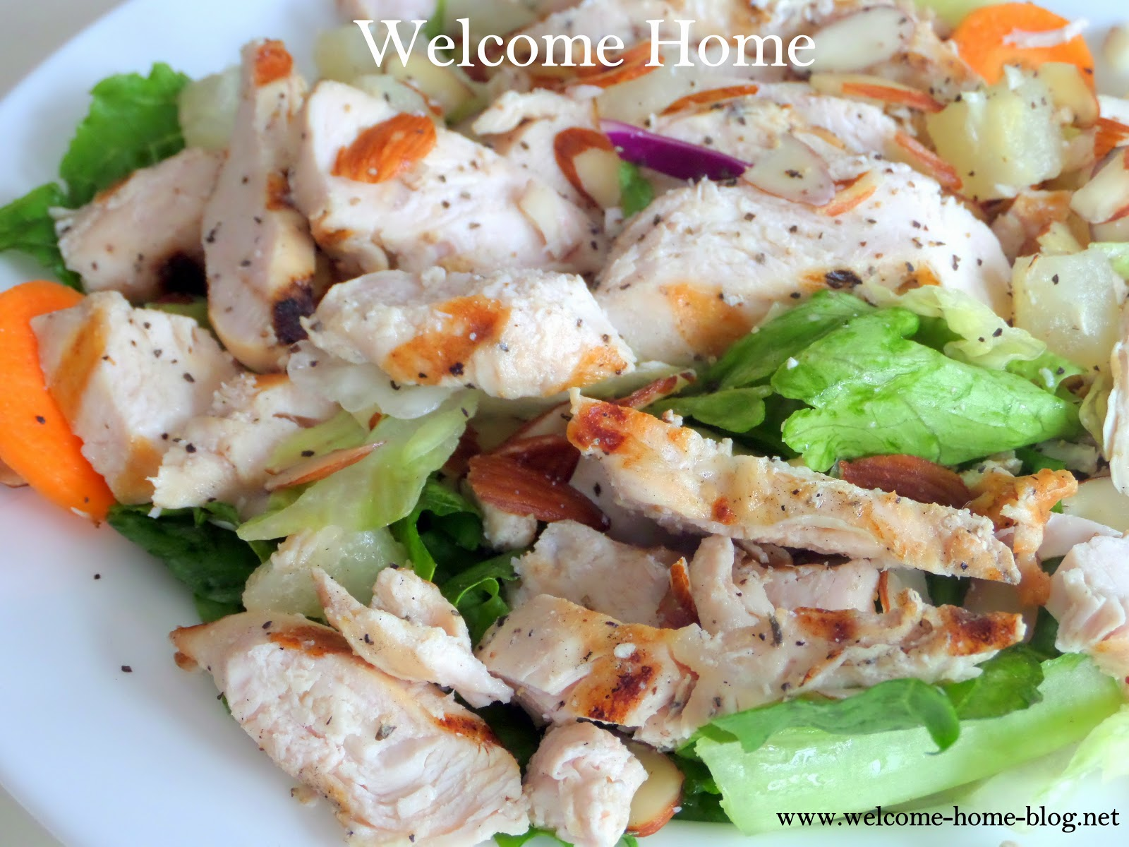 Welcome Home Blog: Grilled Chicken Salad with Pears and Almonds