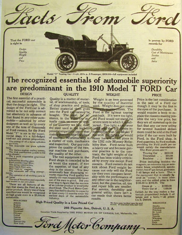 Ford Model T Tin Lizzie 1909