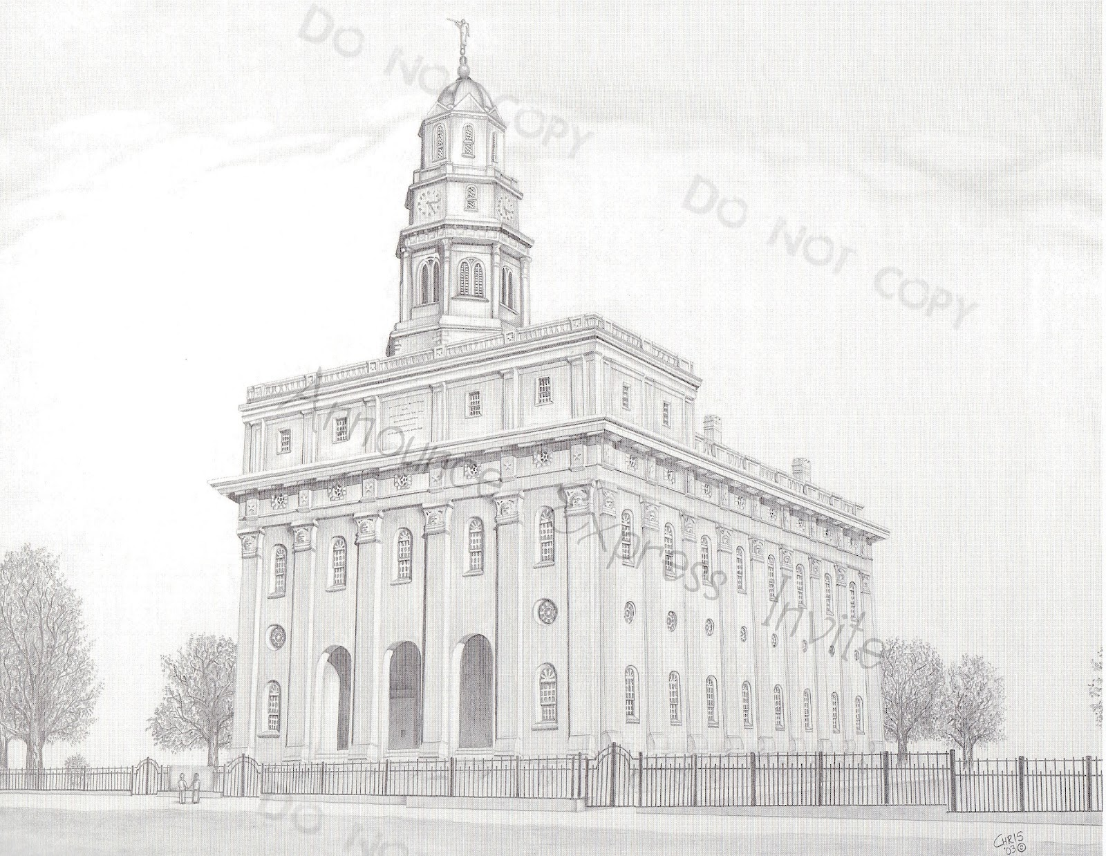 A Pocket full of LDS prints: Temple Drawings