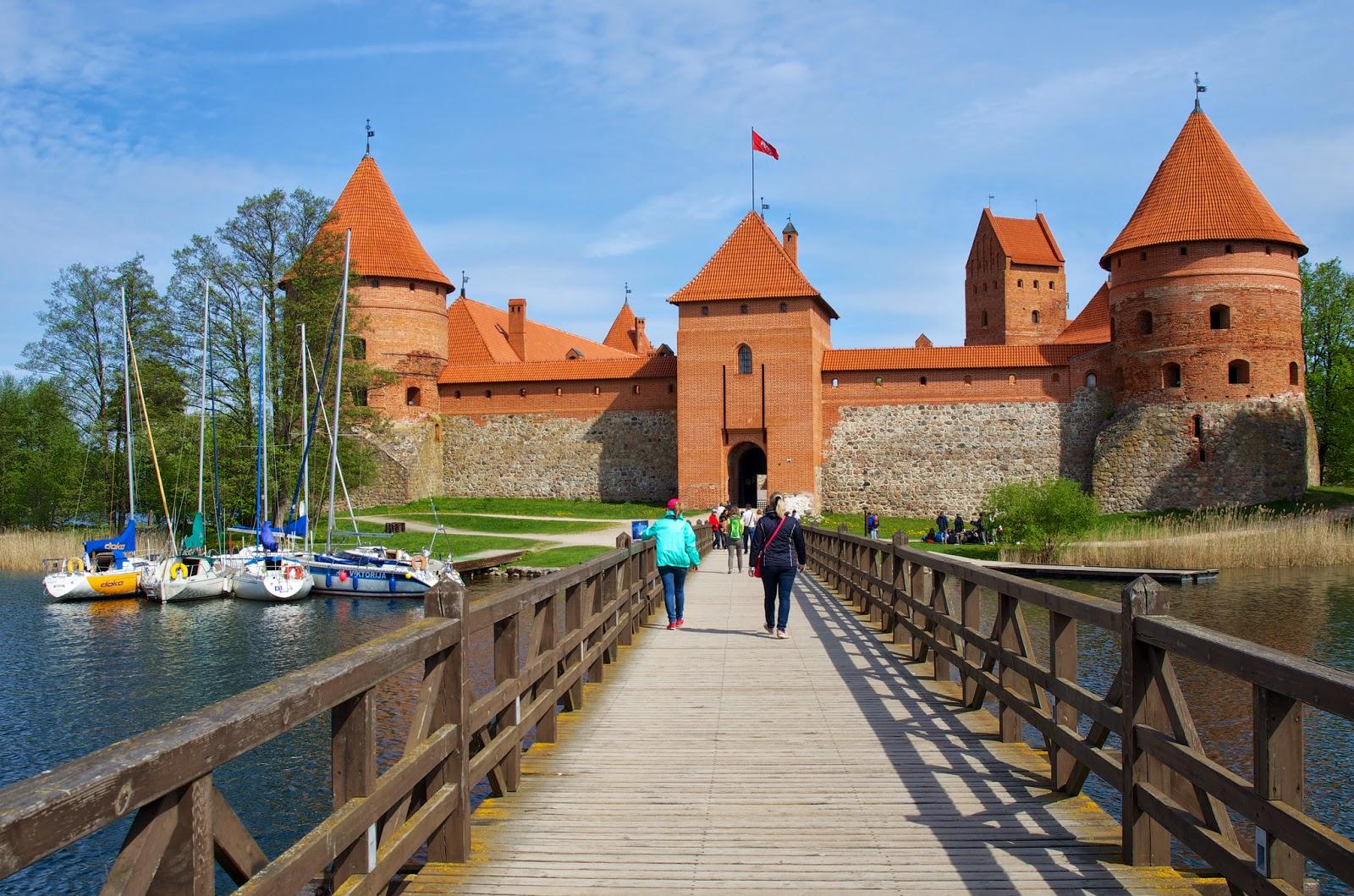 Средневековый замок в Литве. Тракайский замок