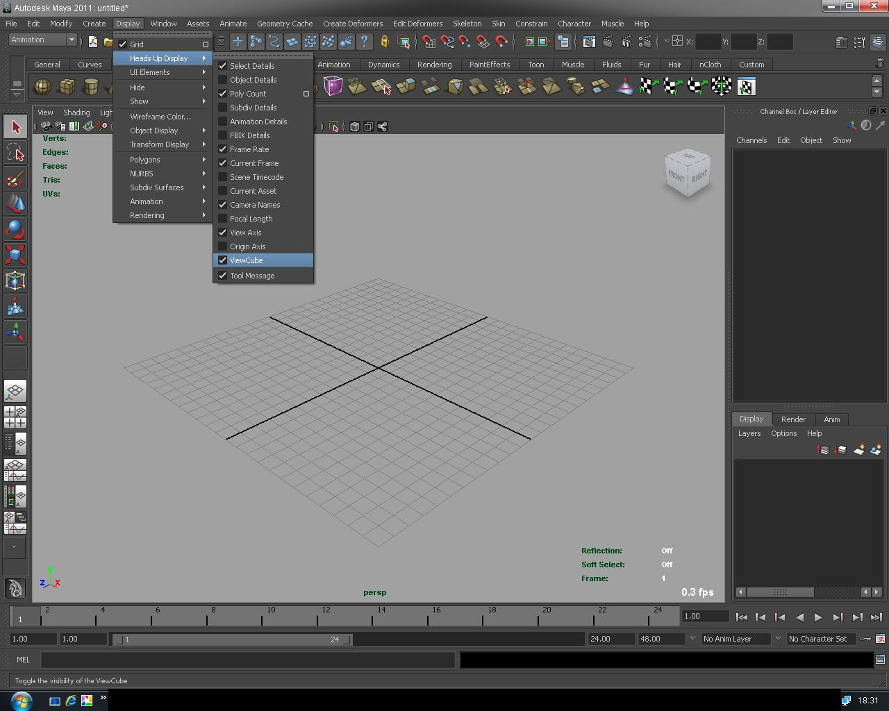 how to set frame rate in maya