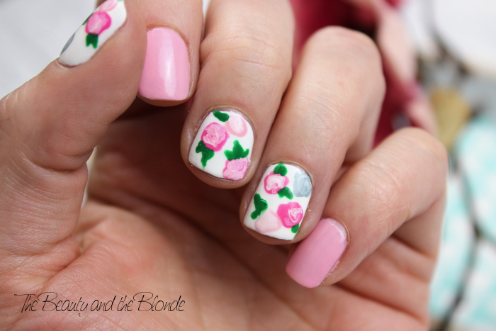 Ready, Set, Polish, Floral Nail Art, Flowers, Roses, essence, KIKO
