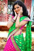 Pujitha sizzling in half saree-thumbnail-3