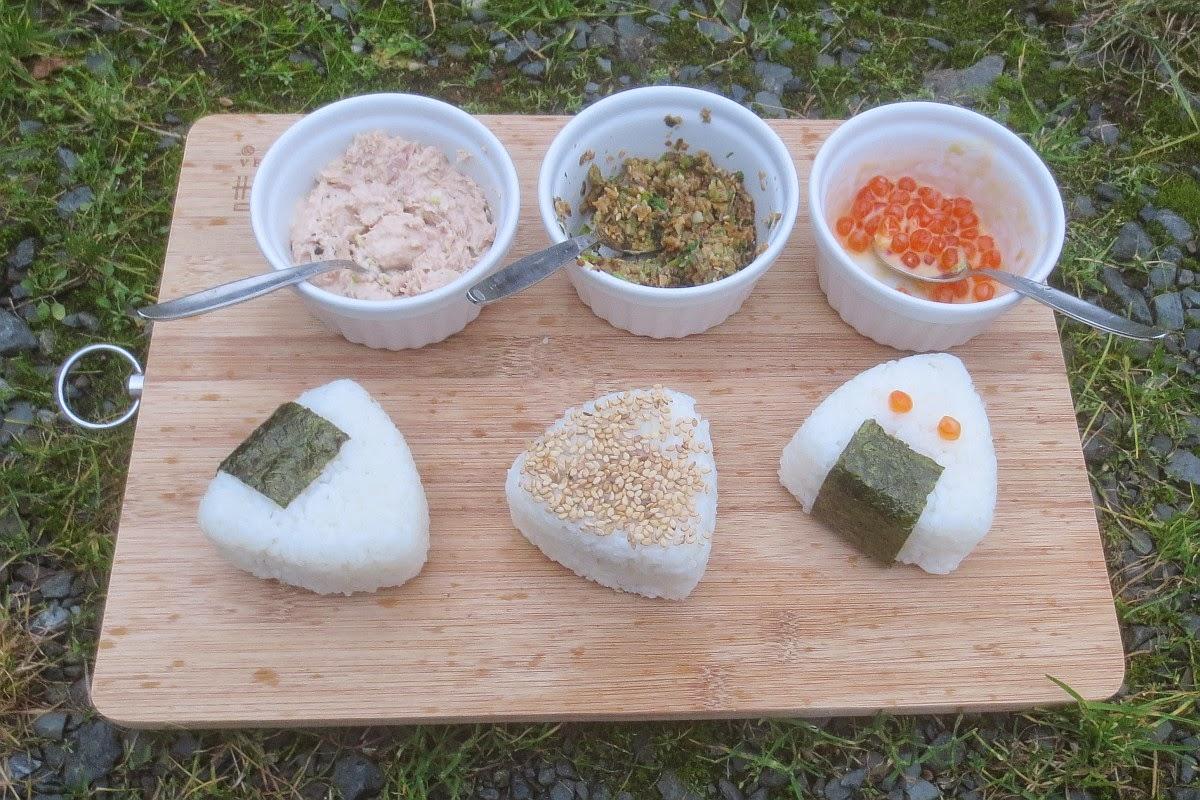 Onigiri mit 3 verschiedenen Füllungen, Onigiri selbermachen