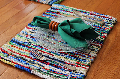 Hand-knitted Placemats by Handiworkin' Girls