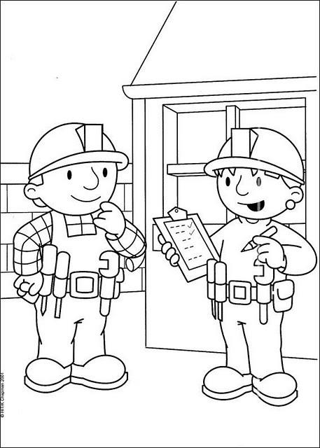 LAMINAS PARA COLOREAR - COLORING PAGES: Bob el Constructor para ...