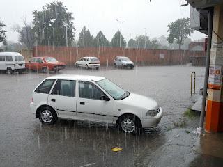 heavy rain aslam market wah cantt