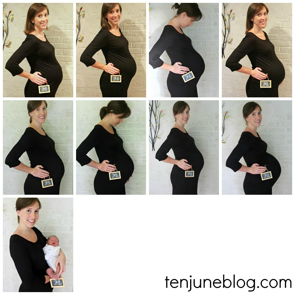 Weekly maternity photo ideas
