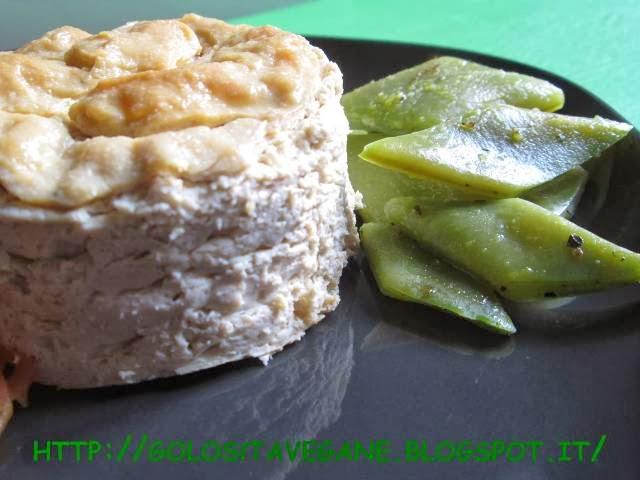 Un formaggio vegetale stagionato fatto partendo dal kefir di latte di soia.