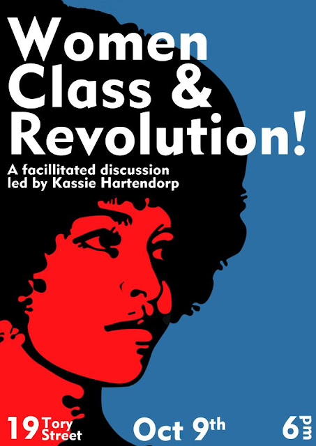 poster for Women, Class and Revolution event