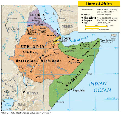 Horn of Africa Map Picture