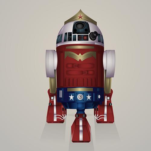 03-Wonder-Woman-Steve-Berrington-Batman-v-Superman-and-their-Superhero-R2-D2-Friends-www-designstack-co