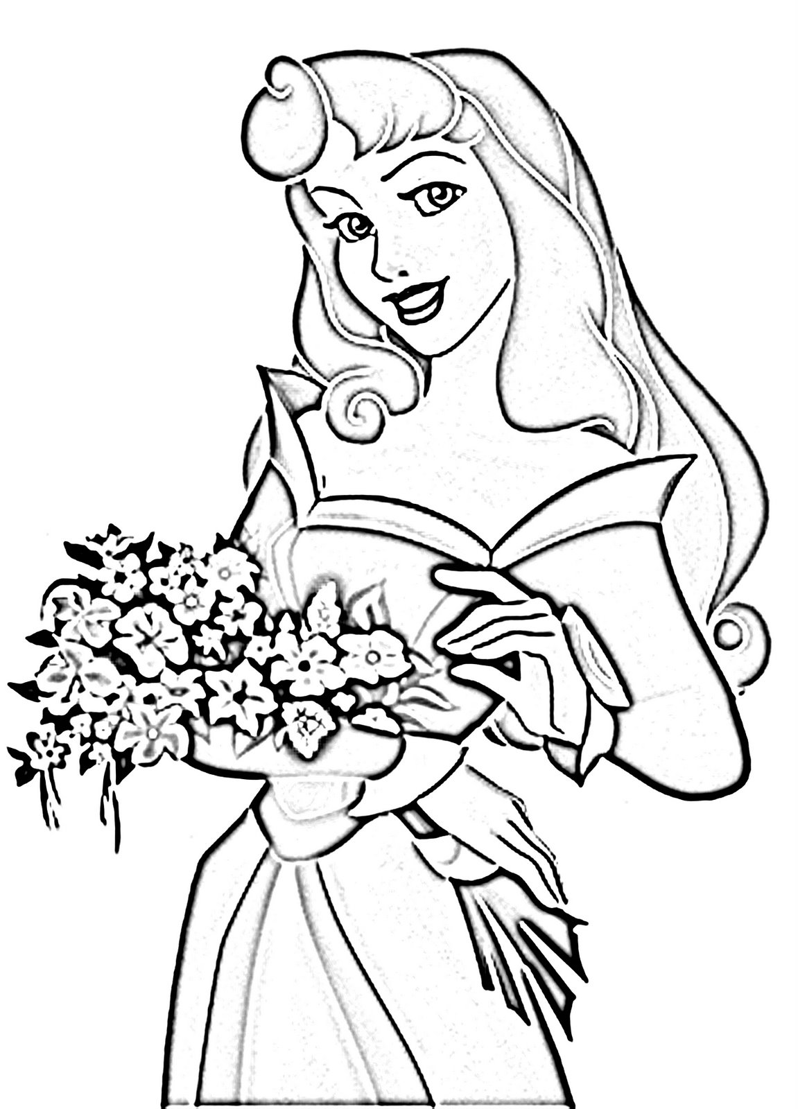 learning for kids coloring princess aurora free coloring pages