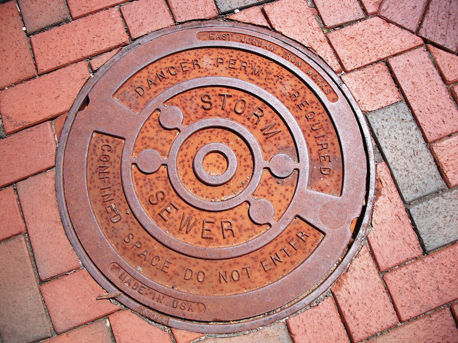 Chocolate Bicycle Beauty In Sewer Covers