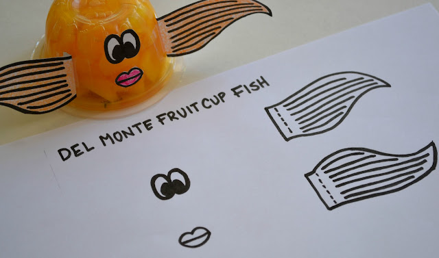 Del Monte diced peaches fruit cup fish #SmartSnack printable, healthy snack option