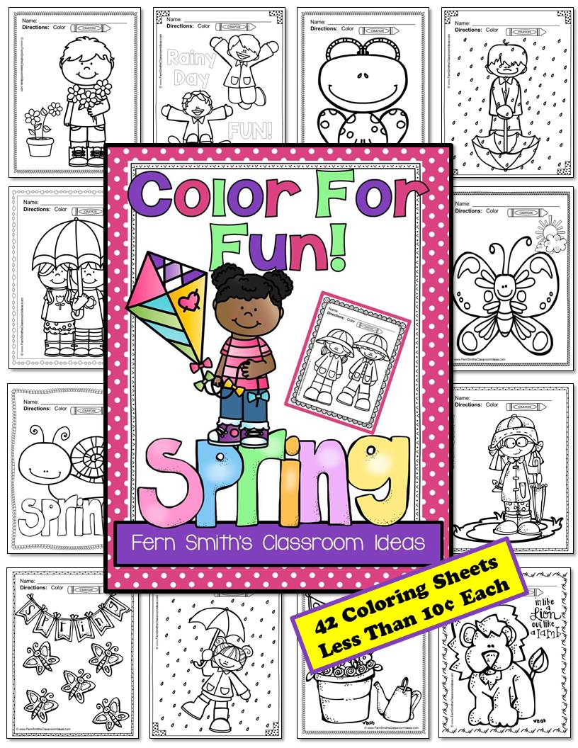 Fern Smith's Classroom Ideas Spring Fun! Color For Fun Printables at TeachersPayTeachers - TPT.