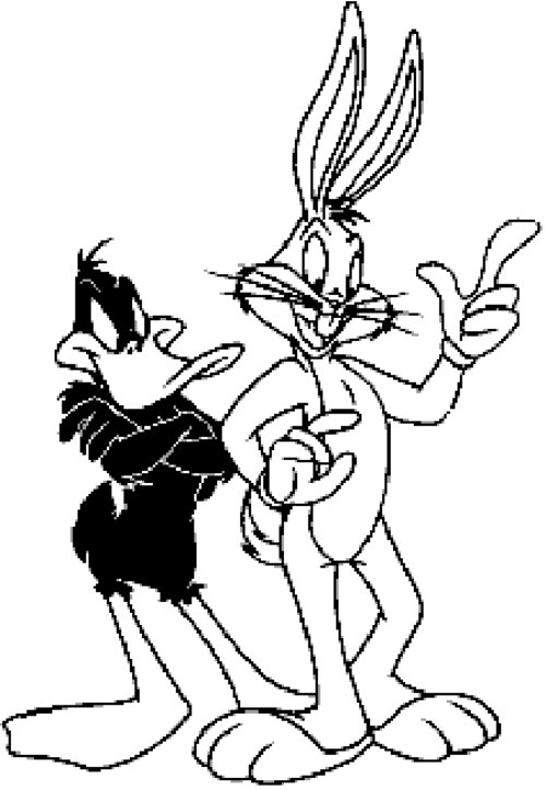 Bugs Bunny And Daffy Duck Coloring Pages For Kids