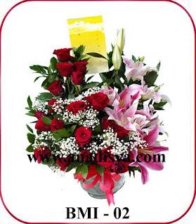 rangkaian bunga menyambut imlek