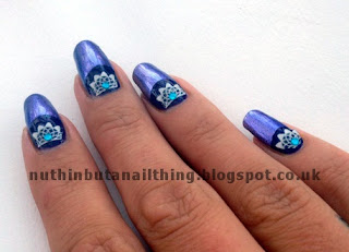 half moon nail manicure