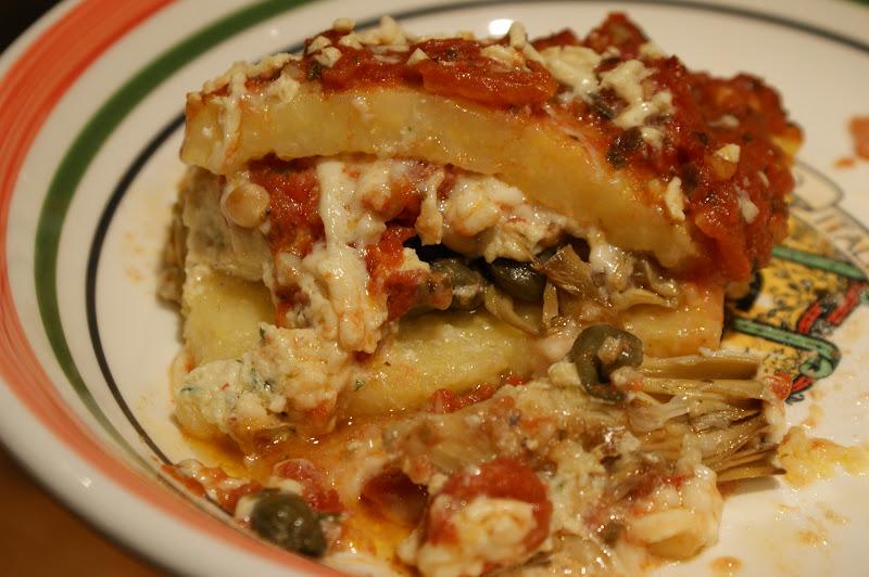 Vegan Fazool: Polenta Lasagna!