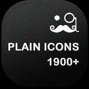 Download PLAIN ICONS Apk APEX/NOVA/ADW/GO v1.1.1 full