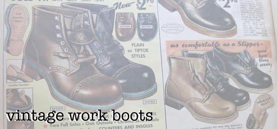vintage work boots