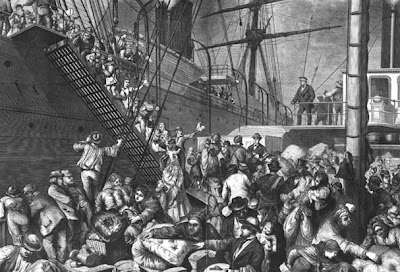 a history of the immigration waves in the united states Overview of ins history early american immigration laborers from immigrating to the united states the general immigration act of 1882 levied a head.