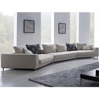 Sofa Sectional By TOSH Furniture (White Fabric/Hardwood/Steel)
