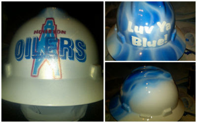 airbrushed oilers hard hat