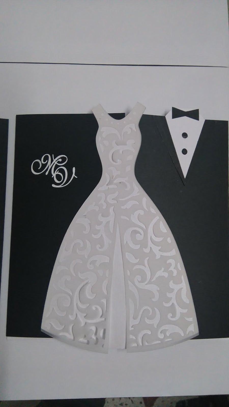 Invitaciones de boda vestido de novia