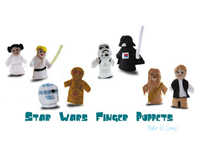 how to make origami star wars finger puppets