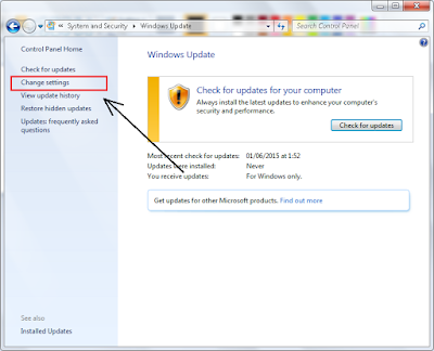 Cara Matikan (Non-Aktifkan) Windows Update di Windows 7