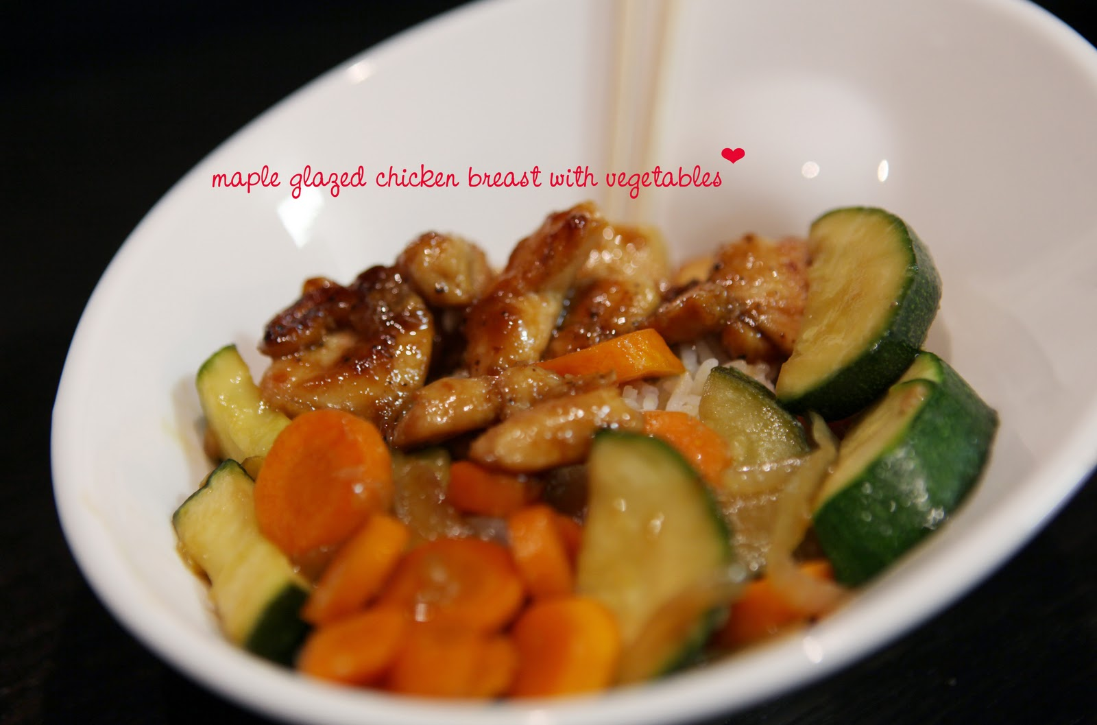 adrian and jana: maple-glazed chicken breast with vegetables