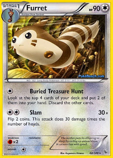 Furret Flashfire Pokemon Card