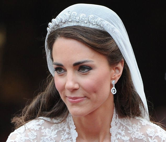 How To Do Bridal Makeup And Hairstyle : How not to do bridal makeup - Kate Middleton Style