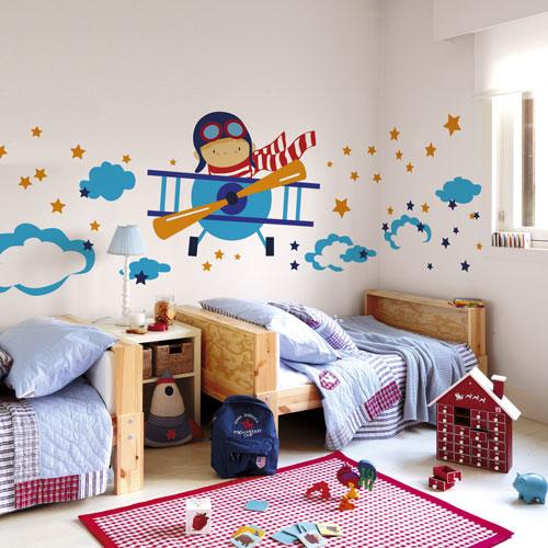Mini aerotrastornados vinilos y l minas de aviones y for Vinilos para decorar habitaciones infantiles