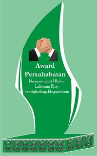 Award persahabatan dari bang Hendry