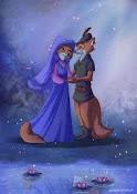 Robin Hood e Marian na Versão da Disney