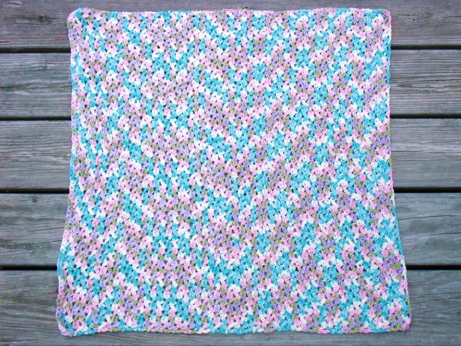 Crochet Baby Blanket Patterns Variegated Yarn : Easy Crochet Pattern: Shell Look Baby Blanket Finish