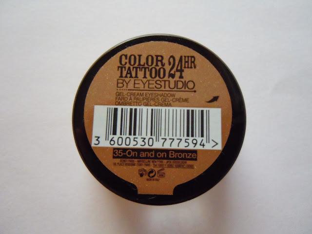 maybelline cream eyeshadow on and on bronze