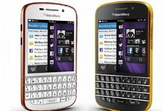 Blackberry Q10 Mewah Berlapis Emas