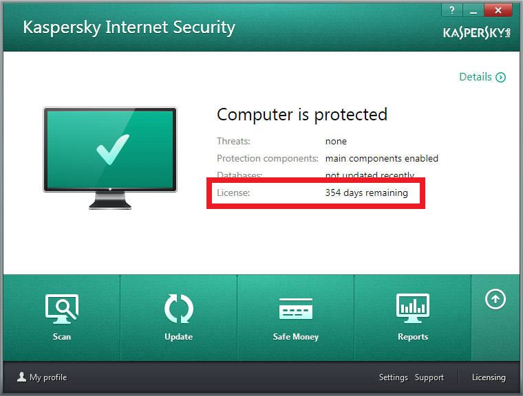 Security. اعد تشغيل البرنامج ومبروك عليك. 2014. Kaspersky. سريال.