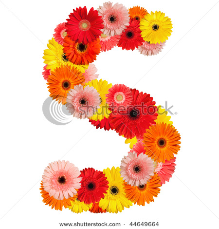 S Alphabet In Flowers Beautiful Alphabet Alphabets part-2