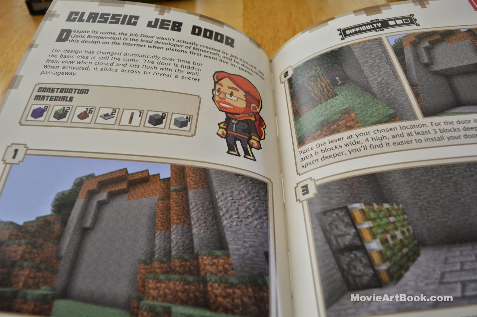 how to make a jeb door in minecraft