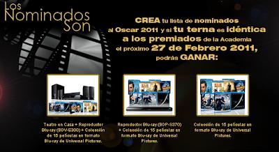 premios Teatro en Casa + Reproductor Blu-ray (BDV-E370) + Colección de 15 películas en formato Blu-ray de Universal Pictures, Reproductor Blu-ray (BDP-S370) + Colección de 15 películas en formato Blu-ray de Universal Pictures, Colección de 15 películas en formato Blu-ray de Universal Pictures promocion sony mexico los nominados son 2011