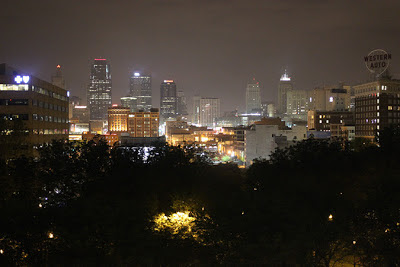 Image of downtown Kansas City, MO at night