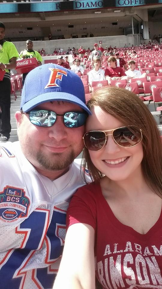 SEC Couple, Tuscaloosa, Bryant Denny Stadium, game day, Alabama vs. Florida