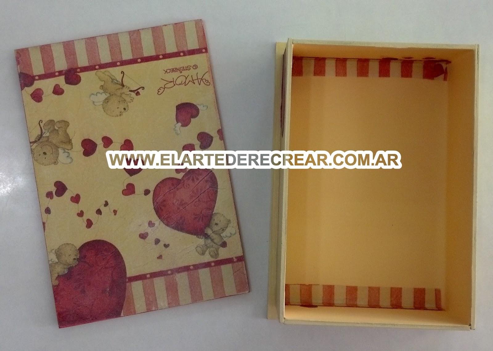 Caja de madera con decupage recrear manualidades arte - Manualidades con caja de madera ...