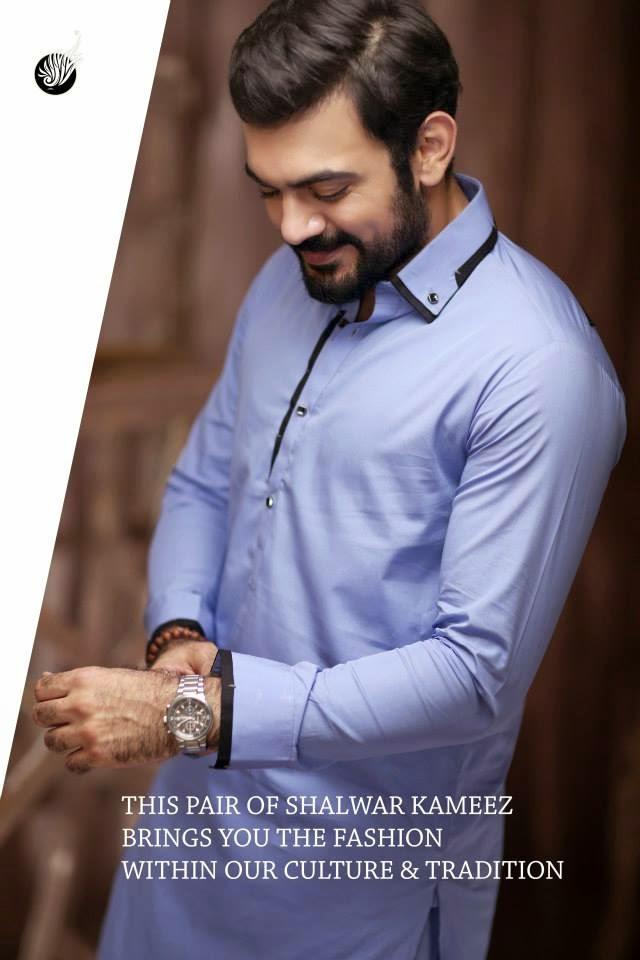 Hadiqa Kiani Men kurta Shalwar 2015 | Formal Wear Kurta Shalwar ...