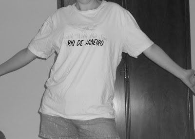 Rio de Janeiro tee shirt before picture- shapeless. :(